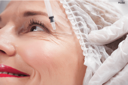 Happy women getting BOTOX® Cosmetic to reduce the appearance of crow's feet.