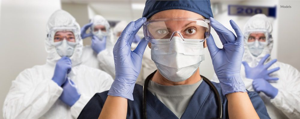 Doctors and nurses covering up for safety.